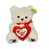 08369 Sun Abc Pff Peluş Ayı Oturan Love Kalp Yastık