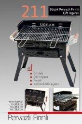 Kömürlü Mangal Piknik Barbekü Pervazlı Fırınlı Katlanır Ayaklı