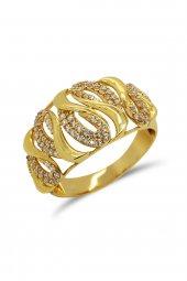 Cigold 14 Ayar Altın Taşlı Yüzük 21k1yz03730002129