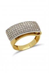Cigold 14 Ayar Altın Taşlı Yüzük 19K1YZ05010002133