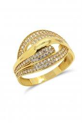 Cigold 14 Ayar Altın Taşlı Yüzük 21k1yz02970002131