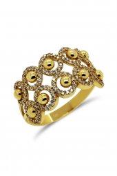 Cigold 14 Ayar Altın Taşlı Yüzük 21k1yz03770002126