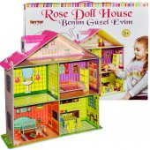 1468 Benim Güzel Oyun Evim Rose Doll House