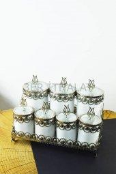 7 Li Standlı Baharat Takımı Gümüş