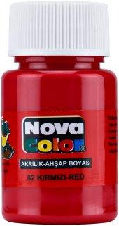 nova color kırmızı akrilik boya  30 cc    29974
