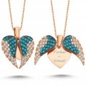 Aşkın Kanatları Gümüş Kalp Kolye İsimli Kolye Wsn149fb