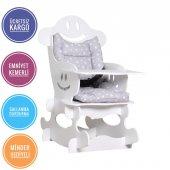 Alkur Home Zuzu Sallanan Bebek Mama Sandalyesi Kemerli Stoplu