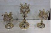 üçlü Gold Dekoratif Şamdan
