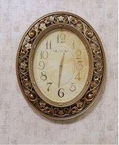 Gold Desenli Kabartmalı Duvar Saati