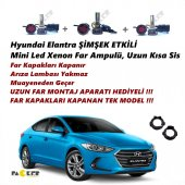 Hyundai Elantra Şimşek Etkili Mini Led Xenon Uzun Kısa Sis Aparat