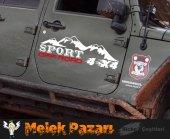 4x4 Off Road Sport Oto Sticker  Sağ ve Sol Takımdır.-2