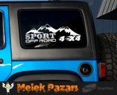 4x4 Off Road Sport Oto Sticker  Sağ ve Sol Takımdır.-3