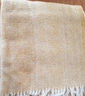 Flora Pamuklu Scotch Battaniye Çift Kişilik Sarı