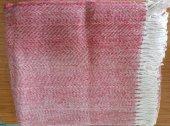 Flora Pamuklu Scotch Battaniye Çift Kişilik Kırmızı
