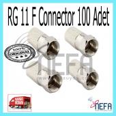 Rg 11 F Connector 100 Adet (Bir Paket)
