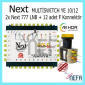 Next Ye 10 12 Sonlu Adaptörlü Santral + 2 Adet Next 777 Lnb