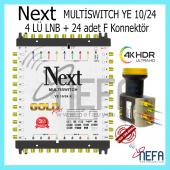 Next Ye 10 24 Sonlu Adaptörlü Santral + 2 Adet Next 777 Lnb