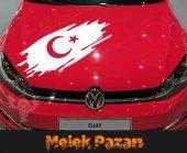 Türk Bayrağı Oto Sticker
