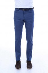 5 Cepli Mavi Slimfit Pamuk Pantolon