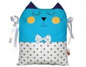 Mavi Kedi Beşik Koruma Yastık