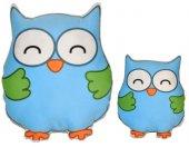 2 Li Mavi Baykuş Yastık