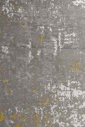 Sarı Gri Modern Kaymaz Kesme Yatak Odası Mutfak Salon Yazlık Halı-3
