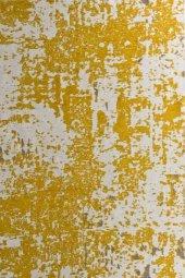 Sarı Gri Modern Kaymaz Kesme Yatak Odası Mutfak Salon Yazlık Halı-4