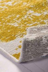 Sarı Gri Modern Kaymaz Kesme Yatak Odası Mutfak Salon Yazlık Halı-5