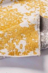 Sarı Gri Modern Kaymaz Kesme Yatak Odası Mutfak Salon Yazlık Halı-6