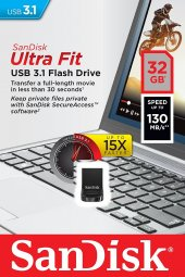 Sandisk Ultra Fit 32gb Usb 3.0 Usb Bellek (Sdcz430 032g G46)