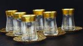 Fantasia Sibel, Altın Varaklı 6 Kişilik Çay Bardak Takımı