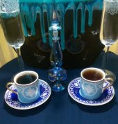 Altın Yaldızlı ,ithal 6 Kişilik Kahve Fincan Takımı
