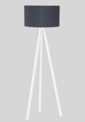 Kumaş Başlıklı 3 Ayaklı Tripod Lambader - Gri Başlık / Beyaz Aya-2