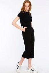 Sırakuza Rahat Kesim Siyah Pantolon 160033 1