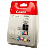 Canon 6509b009 Clı 551cmybk Multıpack Kartus
