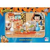 Ks Games 24 Parça Frame Çocuk Puzzle Flintstones