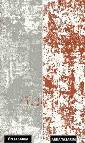 Çift Taraflı Kırmızı Gri Modern İnce Yazlık Kilim - HS93514P-2