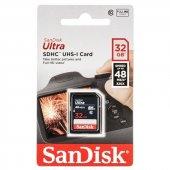 Sandisk Ultra Sdhc 32gb 48mb S Class 10 Uhs I Hafıza Kartı Sdsdunb 032g Gn3ın