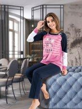 Derya Kurşun Uzun Kollu Bayan Pijama Dk1106