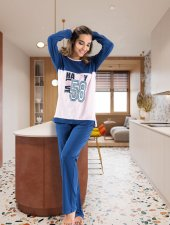 Derya Kurşun Uzun Kol Bayan Pijama Dk1109