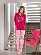 Derya Kurşun Uzun Kol Bayan Pijama Dk1112