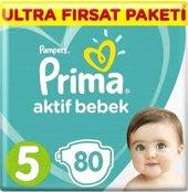 Prima Aktif No 5 Ultra Fırsat Paketi 11 16 Kg 80li Bebek Bezi