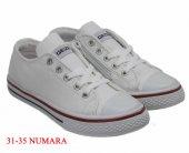 Gezer Fermuarlı Çocuk Beyaz Spor Ayakkabı Keten Ayakkabı-4