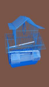 Dayang Çinevi Kafes Mavi 30x23x46