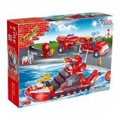 Banbao 392 Parça İtfaiye Seti Eğitici Puzzle Oyuncak Serisi Yangın Söndürme Ekibi Aktivite Lego-3