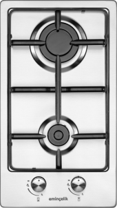 Eminçelik 41220 Ankastre Paslanmaz İnox Domino Ocak
