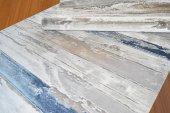 Karışık Renkli Mavi, Beyaz, Vizon Akrilik Oturma Odası Halısı - H-6
