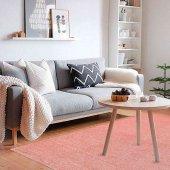 Pudra Düz Renk Modern Salon Yatak Odası Halısı-5
