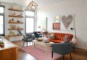 Mürdüm Düz Renk Modern Salon Oturma Odası Halısı-6
