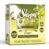 Sleepy Islak Mendil Havlu Zeytinyağlı 3 X 50li...